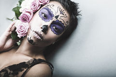 Girl with art make-up Royalty Free Stock Image