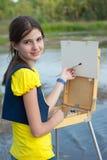 Girl artist Royalty Free Stock Image