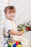 Girl-artist Stock Image