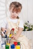 Girl-artist Royalty Free Stock Photography