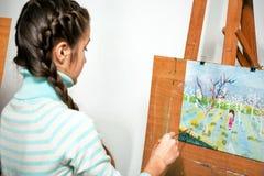 Girl artist Stock Images