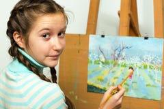 Girl artist Royalty Free Stock Photos