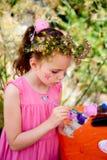 Girl Arts Crafts Painting royalty free stock photos