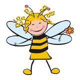 Girl as bee Stock Photos