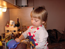Girl as a cook Royalty Free Stock Photo