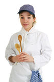 Girl as cook Stock Photos