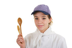 Girl as cook Stock Image