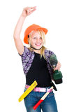 Girl as a craftswoman Royalty Free Stock Images