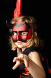 Girl as the devil. Royalty Free Stock Photo