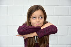 Girl as pantomime Royalty Free Stock Photo