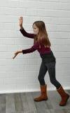 Girl as pantomime Stock Photos