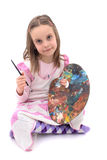 Girl as young artist Royalty Free Stock Photography