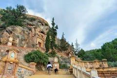 Ascending to the Sanctuary of la fuensanta stock photos
