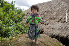 Girl of Asia, ethnic group Meo, Hmong Royalty Free Stock Photography