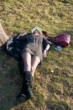 Girl asleep Stock Photography