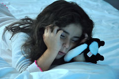 Girl Asleep Royalty Free Stock Photography