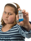 Girl With Asthma Royalty Free Stock Photos
