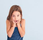 Girl with astonished expression Royalty Free Stock Image