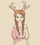 Girl. Astrological sign Stock Photos