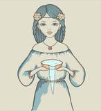 Girl. Astrological sign Royalty Free Stock Photos