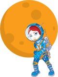 Girl astronaut Stock Photo