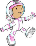 Girl Astronaut Vector Royalty Free Stock Photos