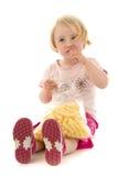 Girl At Food Royalty Free Stock Photos