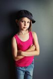 Girl with attitude Royalty Free Stock Image