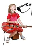 Girl in audio studio Royalty Free Stock Photography