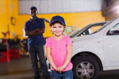 Girl auto technician Stock Image