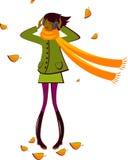 Girl Autumn Stock Photography
