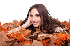 Girl and autumn Royalty Free Stock Photography