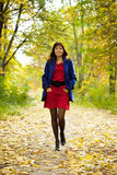Girl  in autumn Royalty Free Stock Photography