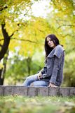 Girl in autumn Royalty Free Stock Photos