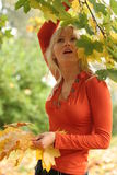 Girl in autumn Royalty Free Stock Images