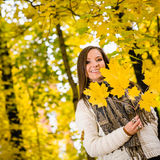 Girl and autumn Stock Photo