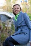 Girl autumn closeup royalty free stock image