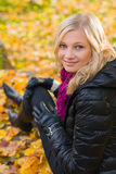 Girl and autumn color Royalty Free Stock Image