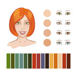 Girl autumn color type Stock Images