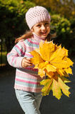 Girl in autumn Stock Photo