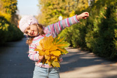 Girl in autumn Stock Photography
