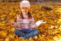 Girl in autumn Stock Image