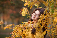 Girl in autumn Royalty Free Stock Image