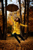 Girl in autumn Stock Photos