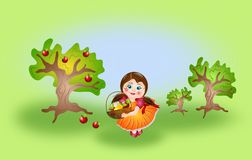 Girl on autumn Royalty Free Stock Images