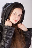 Girl in autumn jacket Stock Photos