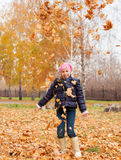 Girl at autumn Royalty Free Stock Images