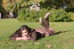 Girl in autumn park Royalty Free Stock Photos