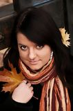 Girl in autumn park Stock Image
