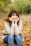 Girl in the autumn park. Royalty Free Stock Photos